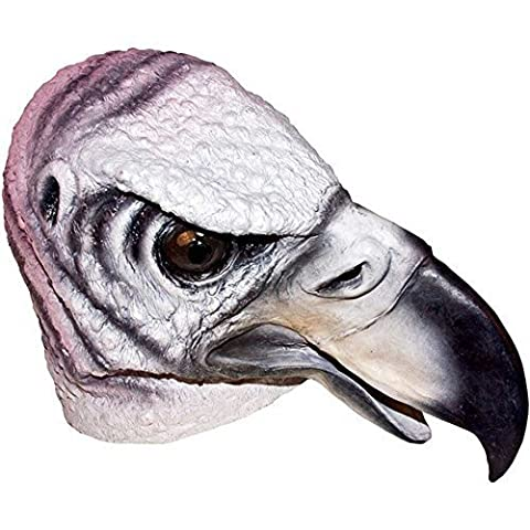 Realistic Vulture Mask: Full Face Rubber Latex Costume Mask by Dillon Inc