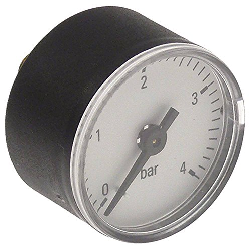 Eloma Manometer für Kombidämpfer GENIUS, MB, 1011, 611, 2011, MAKT, 1221 Anschluss hinten mittig 0-4bar ø 39mm 1/8'