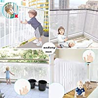 Rain Queen Kids Safety Net, Balcony and Stairway Safety Net for Baby Child Kids Indoor & Outdoor- Child Safety; Pet Safety; Toy Safety - 10ft x 2.5ft