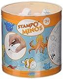 Unbekannt ALADINE 85144 - Stampo Minos Meerestiere, 10 Stempel und 1 Stempelkissen, schwarz