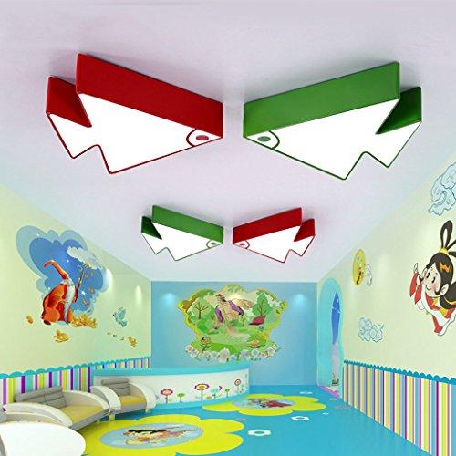 (Deckenleuchte Tropische Fische Kind Schlafzimmer junge Mädchen moderne Cartoon Zimmer Kindergarten Klassenzimmer Lichter (Color : Green-C(with remote control)))
