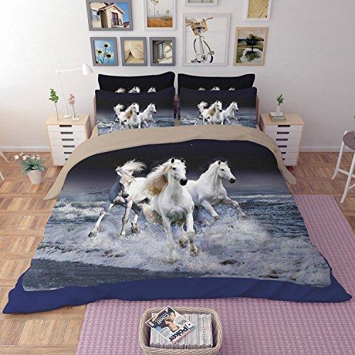 AISHUAIGE Bettbezug Set 3 Stück Bettwäsche Digitale Bettbezug mit Kissenbezüge 3D Digitaldruck Muster, 003 - 49ers Set Tröster