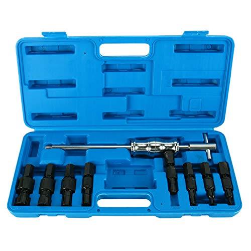 FreeTec 9-tlg Blindloch Innenlager Abzieher Set Entferner Schiebehammer Innenbausatz 8-32mm.
