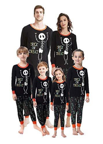 Costumes de Halloween Parent-Enfant Cosplay Vêtement Déguisement Adulte Costume de Lutin Lettre squelette imprimée