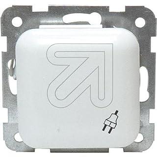 EGB Elegant Standard Kombisteckdose mit Klappdeckel re