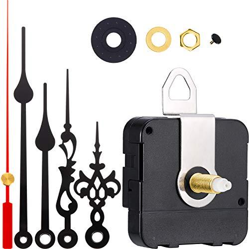 2 Paar Hände Quartz Uhrwerk DIY Wanduhr Bewegungsmechanismus Clock Ersatzteile Ersatz (Schaftlänge 4/5 Zoll/ 20 mm)