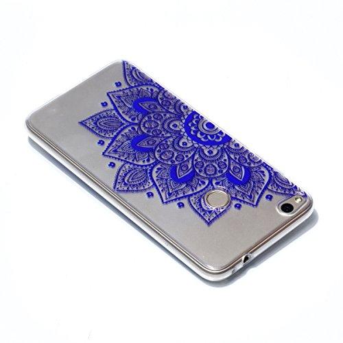 Qiaogle Téléphone Coque - Soft TPU Silicone Housse Coque Etui Case Cover pour Apple iPhone 5 / 5G / 5S / SE (4.0 Pouce) - YY35 / Noir Dreamcatcher YY28 / Bleu mandala