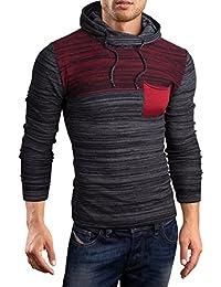 Grin&Bear coup slim sweat shirt tricoté col à capuche pull homme, GEC342-347