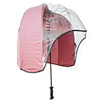 windproof dome umbrella Tartan  - tested strong lightweight vented canopy free carrying shoulder sleeve. by Rainshader