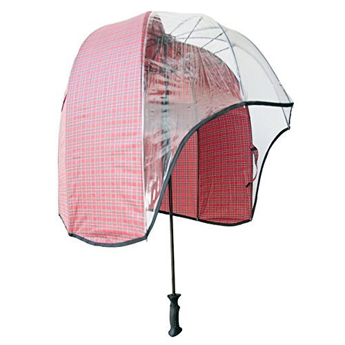 780133a30a646 windproof dome umbrella Tartan - tested strong lightweight vented canopy  free carrying shoulder sleeve. by