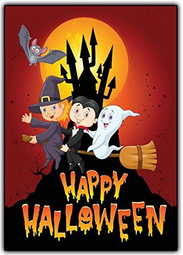 Halloween EInladungskarten Kindergeburtstag Jungen Mädchen Kinder Party Einladung - 11 Stück Gespenster Zauberer gruselig sarg Hexe