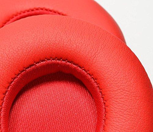 Case Wonder Ersatz Ohrpolster / Ersatzohrpolster / Ohr Polster / Kopfhörer Ohrkissen / Pads für Kopfhörer Beats by Dr. Dre Solo 2, Solo 2.0 Reparatur Teile (Rot, Kabellos) - 4