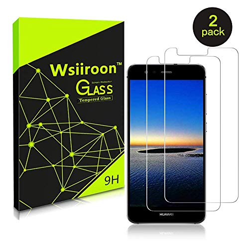 wsiiroon Panzerglas Schutzfolie für Huawei P10 Lite, [2 Stück] Huawei P10 Lite Displayschutzfolie mit 3D Touch Kompatibel, 9H Härte, 2.5D Kanten, 99{3b7198f5b4b62ae68749f2d9d56cdda7fc45d3a69248d3c95e104086497f0a75} Transparente Panzerglasfolie
