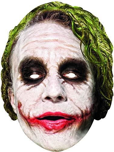 costumebakery - Kostüm Accessoires Zubehör Herren Batman Joker Maske, Card Mask, perfekt für Karneval, Fasching und Fastnacht, Weiß