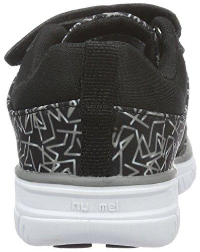 Hummel Unisex-Kinder Crosslite Print Sneaker Jr Hallenschuhe Schwarz (Black)