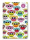 Collegetimer Pocket Monkeys 2014/2015 - Schülerkalender A6 - Day By Day - 352 Seiten