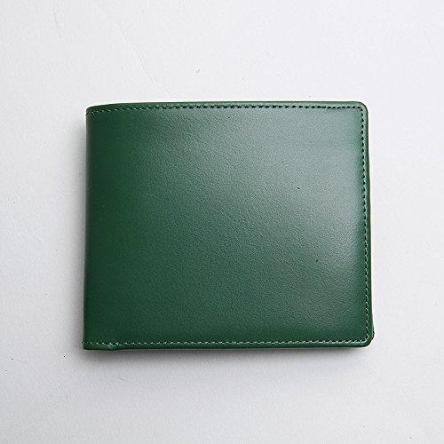 Leder Herren Leder Etui, Leder Schuhe der exquisiten Männer, kurze Brieftasche, Farbe Freizeit Tasche, Navy Blue Green