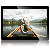 Android 8.1 Tablet 10 Zoll, PADGENE Quad Core CPU Tablet-PC mit Dual SIM Karten Slots, 2.0MP+5.0MP Dual Kamera , WiFi, Bluetooth, GPS (10'(2G+32G), Schwarz)