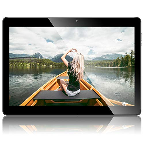 "Android 8.1 Tablet 10 Zoll, PADGENE Quad Core CPU Tablet-PC mit Dual SIM Karten Slots, 2.0MP+5.0MP Dual Kamera , WiFi, Bluetooth, GPS (10""(2G+32G), Schwarz)"