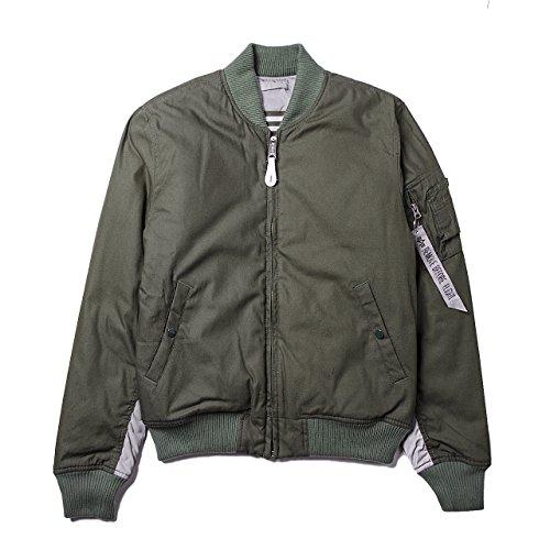 Alpha Industries -  Giacca - Bomber Jacket - Uomo Olive/Grey