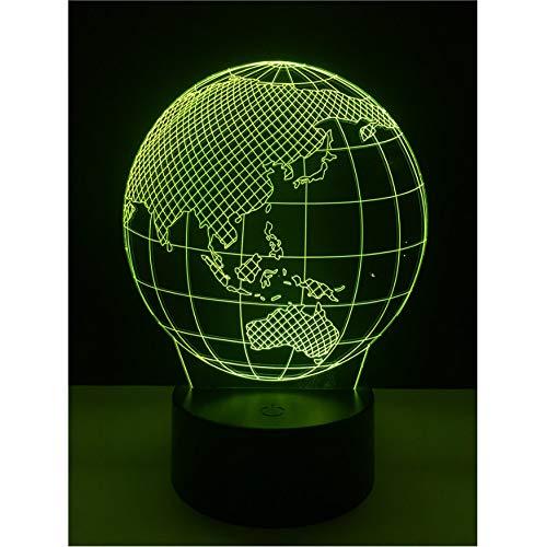 Kreative 3D Led Globus Karte Nachtlicht Schlafzimmer Bunte Nacht Lampe Spielzeug Halloween Weihnachtsgeschenk Für Kinder Dekoration
