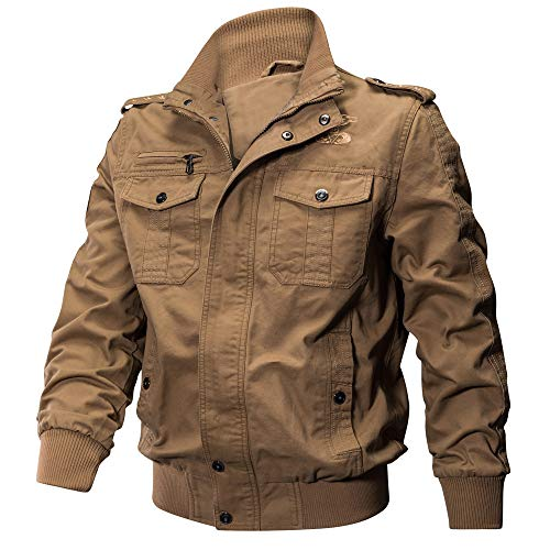 SEWORLD Herren Herbst Winter Sport Charm Herren Casual Slim Fit Militär Windbreaker Kleidung Pocket Taktische Oberbekleidung Atmungsaktive Mantel(W-a-türkis,52 DE/5XL CN)