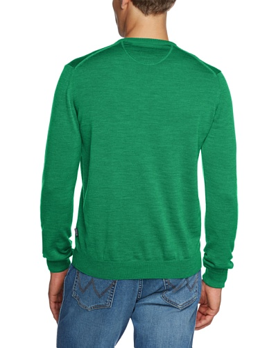 Maerz Pull-over Col V Manches longues Homme Vert - Grün (233)