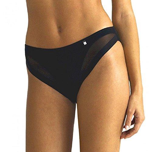 AVET 33188- braga bikini microfibra efecto tanga (M, NEGRO)