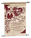 Natali Love Scroll Card For Valentine Gifts - Brown