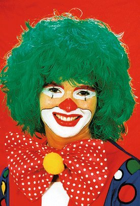 Perücke Clown grün Keine Größe