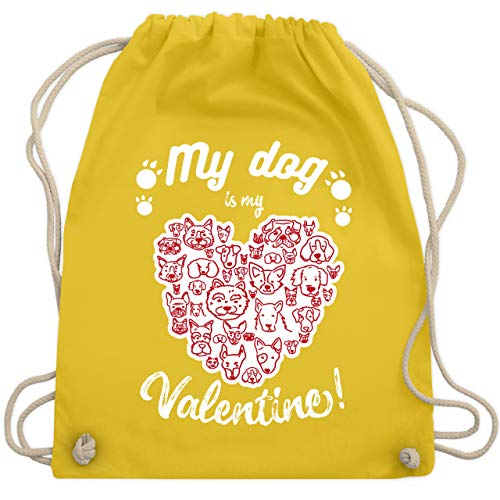 Valentinstag - My dog is my Valentine! - Unisize - Gelb - WM110 - Turnbeutel & Gym ()