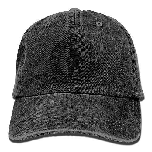 Miedhki Sasquatch Bigfoot Research Team Plain Adjustable Cowboy Deckel Denim Hat for Women and Men Design31