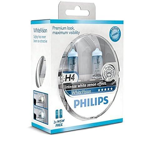 H4 Philips White Vision Intense xenon effect Halogen 60/55W 12V Lampen Birnen (Eld Glühlampen)