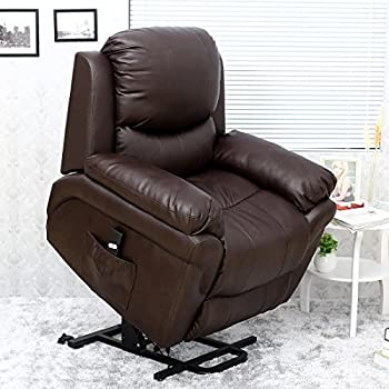 MADISON ELECTRIC RISE RECLINER LEATHER ARMCHAIR SOFA HOME LOUNGE CHAIR (Brown) & Cavendish electric recliner chair with heat /massage - choice of ... islam-shia.org