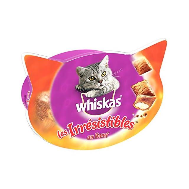 Whiskas Les Irrésistibles - Friandises au B½uf pour Chat, 8 Boîtes de 60 G de Récompenses