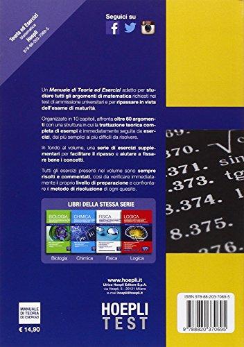 Zoom IMG-1 hoepli test matematica manuale di