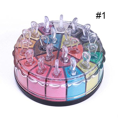 20 Schimmernden Primer (bonniestore 1Box 20Farben Lidschatten Puder Palette & Pigment Glitzer Shimmer Langlebig mit Pinsel Make-up Kit Schönheit Werkzeug #1)