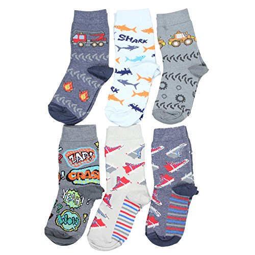 TupTam Unisex Kinder Socken Bunt Gemustert 6er Pack, Farbe: Junge 4, Größe: 31-34