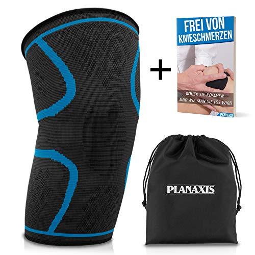 PLANAXIS Premium Kniebandage für Männer & Frauen | Für alle Sportarten sowie im Alltag | Schützt das Knie & den Meniskus - Inkl. gratis eBook (Xxl Knieorthese Für Arthritis)