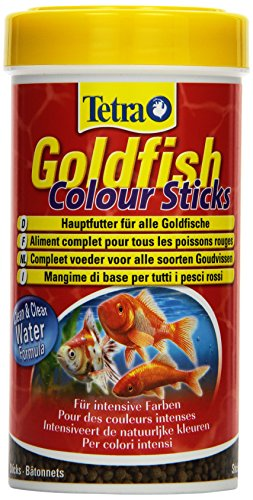 Tetra Goldfish Colour Sticks (Hauptfutter in Form schwimmfähiger Futtersticks, für Goldfische zur vollen Entfaltung der natürlichen Farbenpracht), 250 ml Dose