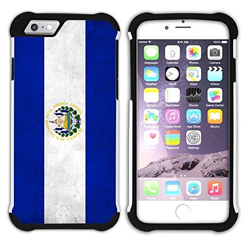 Graphic4You Vintage Uralt Flagge Von Bolivien Bolivianer Design Hart + Weiche Kratzfeste Hülle Case Schale Tasche Schutzhülle für Apple iPhone 6 / 6S El Salvador Salvadorianisch