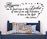 "G Direct Harry Potter Wandaufkleber: ""Happiness Can Be Found."", Zitat von Dumbledore, 100x55 cm"