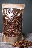 Mitades de nueces de pacana crudas, libres de transgénicos, recolectadas del área orgánica (700gr)