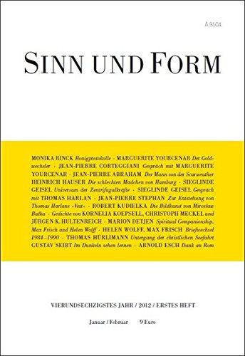 Sinn und Form 1/2012 (Sinn und Form/Beiträge zur Literatur)