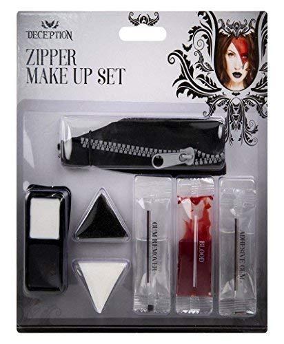 hmink Set Gesichtsfarbe Vampir Zombie Horror Geist Kostüm Set und Gratis Geschenk Lotmart Promotion Stift pro Päckchen - Reißverschluss ()
