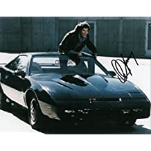 LIMITED EDITION DAVID HASSELHOFF KNIGHT RIDER SIGNED PHOTOGRAPH + CERT PRINTED AUTOGRAPH