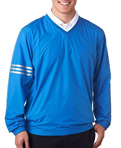 adidas Men's Climalite Ripstop Color Block Windshirt, Gulf/Gulf, XXX-Large (Adidas Windshirt)
