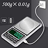 Bescita 500g/0.01g Precision Digital Scales for Gold Jewelry Weight Electronic Scale Kitchen Pocket