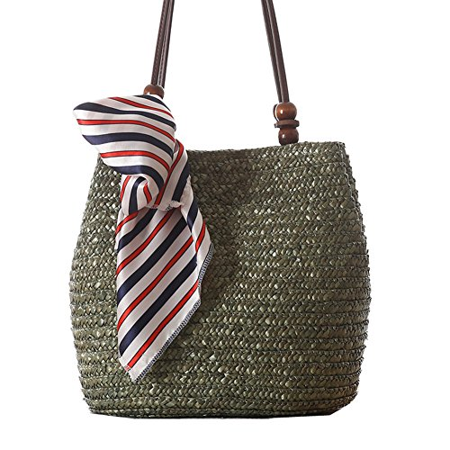 Flada, Borsa tote donna marrone Brown medium Army Green