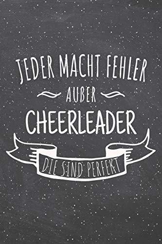 Jeder macht Fehler außer Cheerleader die sind perfekt: Cheerleader Punktraster Notizbuch, Notizheft oder Schreibheft | 110  Seiten | Büro Equipment & ... Geschenk zu Weihnachten oder Geburtstag